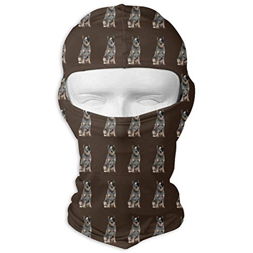 Price comparison product image Australian Cattle Dog Ski Masks for Cycling Outdoor Sports Full Face Mask Balaclava Windproof Breathable