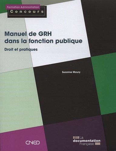 Manuel de GRH dans la fonction publique par Suzanne Maury