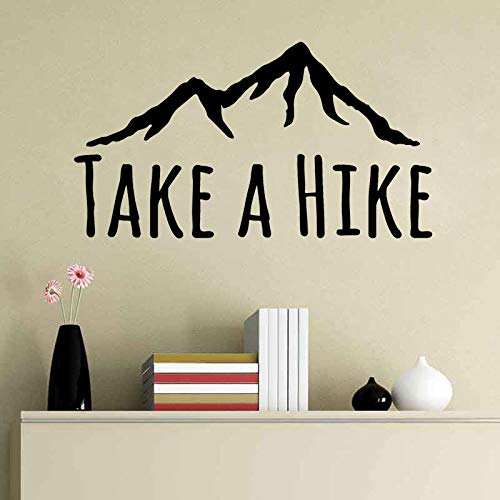 Wandaufkleber 55 Cm * 30,1 Cm Nehmen Sie Eine Wanderung Aufkleber Abenteuer Motivations Berge Pvc Wandaufkleber