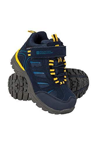 Mountain Warehouse Drift Junior Stiefel für Kinder - Wasserfeste Wanderstiefel, strapazierfähig, atmungsaktiv,mit griffiger Sohle - Wanderschuhe Für Mädchen und Jungen Dunkelblau 29 EU Ccd Ir Led