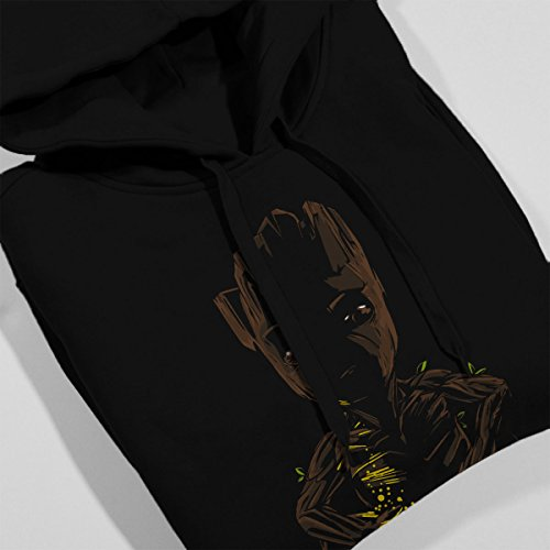 Call Of Grooty Guardians Of The Galaxy Women's Hooded Sweatshirt Black