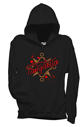 Sweatshirt Kapuzen Fangtasia Club Famous True Blood - Film By Mush Dress Your Style - Damen-M Schwarz -