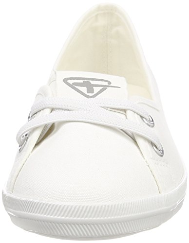 Tamaris 23688, Mocassini Donna Bianco (White)