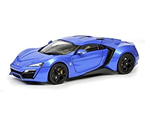 Schuco 450042600 450042600-Lykan Hypersport - Maqueta de Coche (Escala 1:18), Color Azul