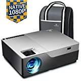 "VANKYO Performance V600 Beamer, 6000 Lumen Full HD Beamer, Native 1080P(1920 x 1080) Video Beamer Heimkino mit 300"" Display, unterstützt HDMI USB VGA TV Stick Xbox Laptop Smartphone, für Powerpoint"
