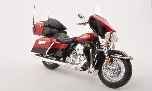Harley Davidson FLHTK Electra Glide Ultra Limited, met.-rot/met.-dkl.-braun , 2013, Modellauto, Fertigmodell, Maisto 1:12 (Harley Davidson Autos Modell)