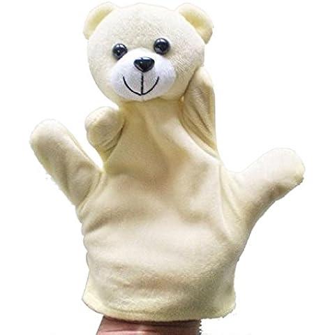 Fortan Peluche Sack Baby Zoo Bambino fattoria degli animali a mano guanto Puppet Finger - Orso
