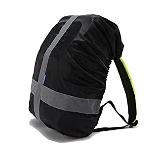 AYKRM Heavy Duty High Visibility Reflective Waterproof Rucksack Backpack Cover (black)