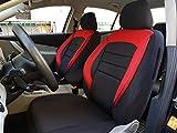 Sitzbezüge k-maniac | Universal schwarz-rot | Autositzbezüge Set Komplett | Autozubehör Innenraum | Auto Zubehör für Frauen und Männer | NO2527066 | Kfz Tuning | Sitzbezug | Sitzschoner