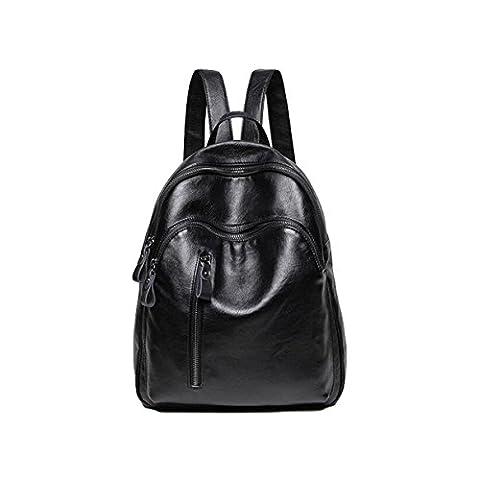 Damen Schultertasche Taschen Tasche Personalisierte Mode Mädchen Pack Rucksack Im Freien,Black-OneSize