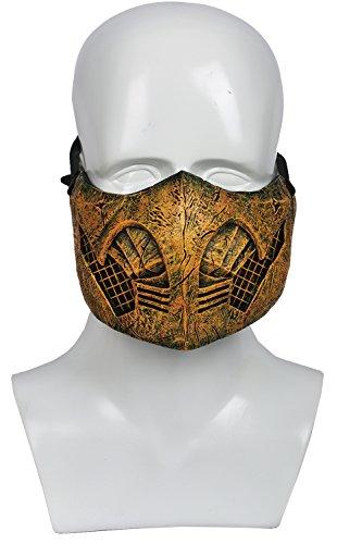 Halloween Maske Scorpion Resin Halbes Gesicht Helm Spiel Cosplay Kostüm Merchandise für Homme Kleidung Zubehör