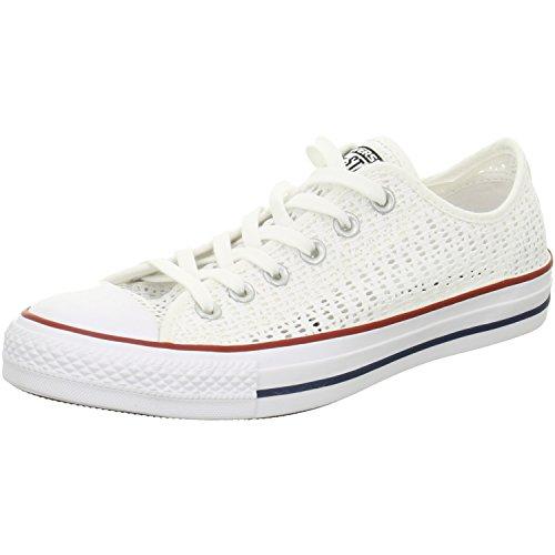 Converse All Senhoras Estrela Boi Tênis Branco Branco
