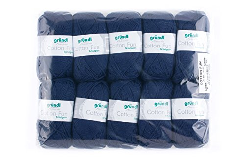 Gründl cotton fun, matasse di cotone, cotone, marine, 27.00 x 11.00 x 07.00 cm