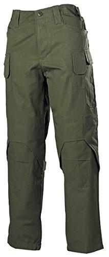 Bequeme Outdoorhose Einsatzhose Mission mit verstärkten Stellen und vielen Taschen Arbeitshose verschiedene Farben S-3XL (M, Oliv)
