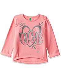 United Colors of Benetton Girls' Regular Fit Plain Sweatshirt