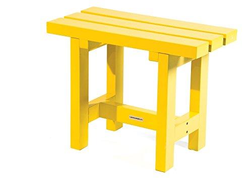 Hocker 'City' 60 cm gelb, Holz, Gartenbank 60 cm