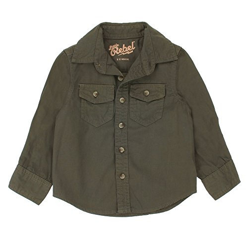 Baby-Jungen Langarm-Shirt, Little Rebel Baby-Jungen Hemd Langarm-Shirt Langarm , Khaki, in Größe 80/86 (Rebel Kind Shirt)