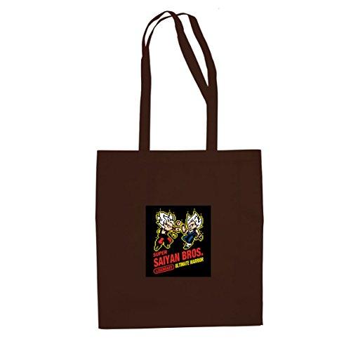 DBZ: Super Saiyan Bros Game - Stofftasche / Beutel Braun