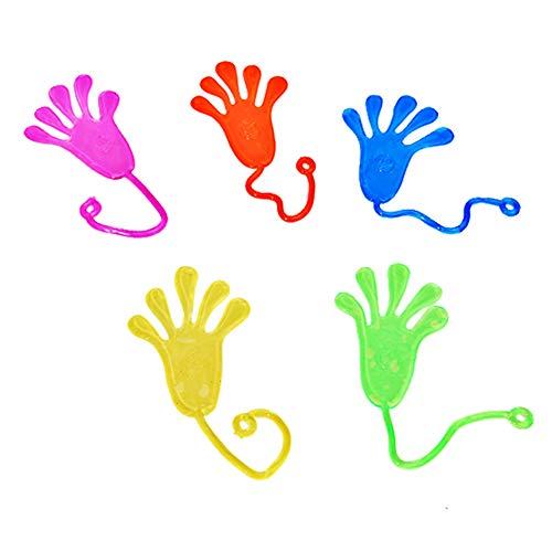 DDG EDMMS 15er Sticky Hand Party Favors Wacky Stretchy Glitter Sticky Hände Sticky Fingers Sinnes Spielzeug für Kinder, Geburtstags-Party zufällige Farbe