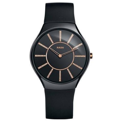 Rado R27741709 140.0741.3.170 - Reloj unisex, correa de goma color negro