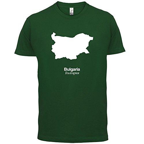 Bulgaria / Bulgarien Silhouette - Herren T-Shirt - 13 Farben Flaschengrün