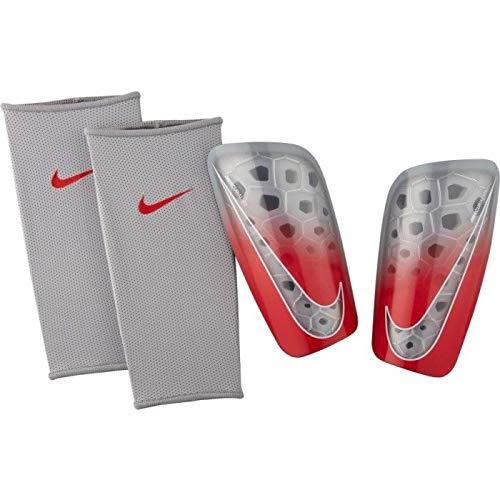 Nike Erwachsene Mercurial Lite Schienbeinschoner, Wolf Grey/Light Crimson/Pure Platinum, M/160-170 cm (Nike Schienbeinschoner Mercurial)