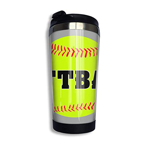 Stainless Steel Coffee Mugs Softball Travel Coffee Thermal Mug 10 Oz (400ml) Insulated Cup Perfect for Travel, Camping, Hiking, The Beach and Sports -