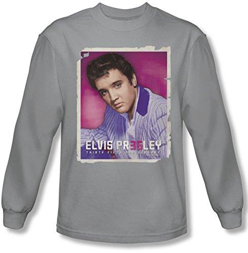 Elvis Presley - Herren 35 Jacke Langarm-Shirt in Silber, XX-Large, Silver (Elvis Presley Jacke)