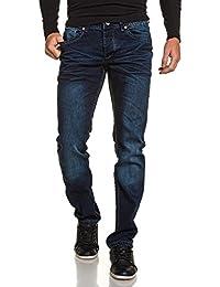 BLZ jeans - Jean bleu foncé coupe droite délavé