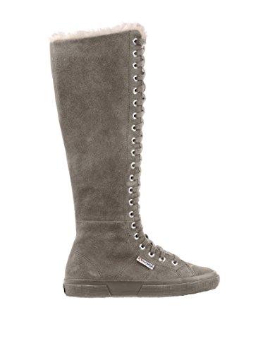 Superga - Superga Stivali donna pelle nero Sabbia