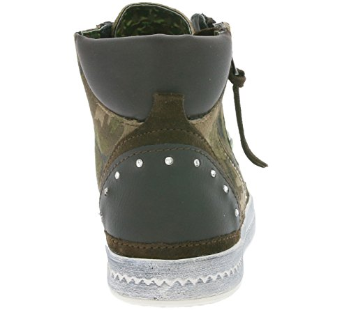 GEOX D Modesty A - Printed Suede Schuhe Damen Sneaker High Top Braun D3429A 000BS C3026 Braun