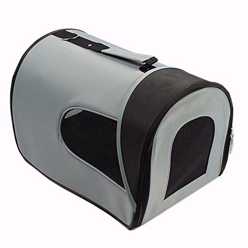 Reisen mit Heimtieren tragbare 1-geschultert Hund Katze Airline Tasche pflegeleicht,graue Oxford Tuch M (Mädchen Graue Maus Kostüm)