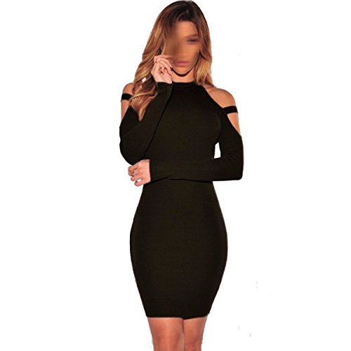 Frau Nachtclub Sexy Trägerloses Kleid Mehrfarbig Multi-size Black