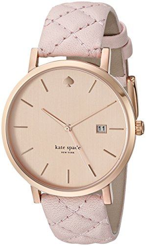Kate Spade Women's New York Metro 38mm Pink Leather Band Gold Tone Steel Bracelet Quartz Watch 1YRU0845