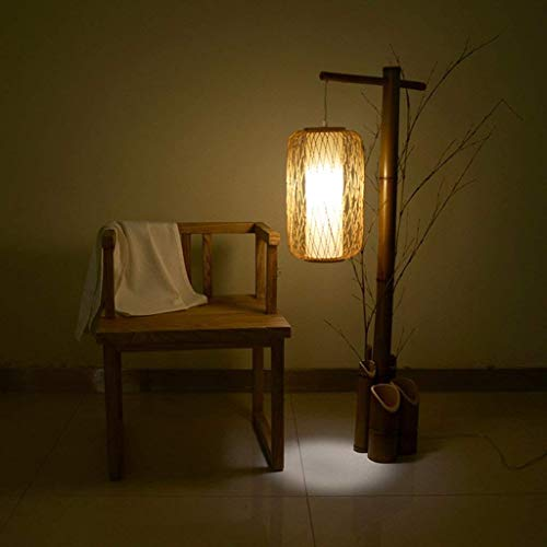 DEED Lámpara de pie Lámpara de pie Estilo Chino Creativo Luz Retro Zen Lámpara de pie Sala de Estar Dormitorio Lámpara de Estilo japonés clásica Lámpara de pie Lámpara de pie Protección Vertical Lámp