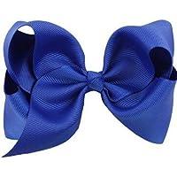 MAMAPA- Clip para el pelo con forma de lazo (1 unidad) azul real