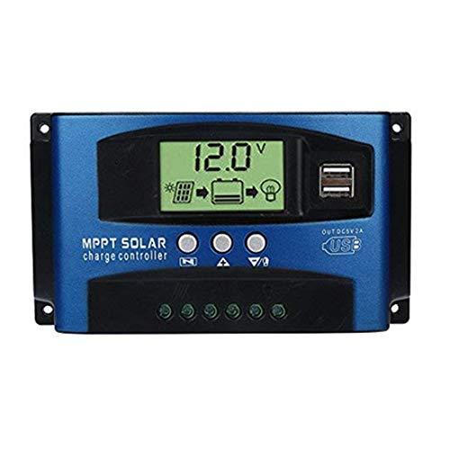 40/50/60 / 100A MPPT Solar Panel Regler Laderegler 12 V / 24 V Autofokus Tr (100A, Blau)