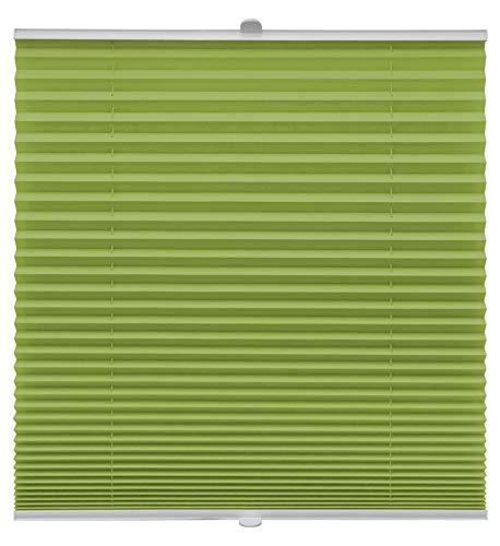 Store plissé sur mesure pour montage sur toutes les fenêtres, Montage par supports à clips jusqu'à 27 mm, vert, Breite: 131 - 140 cm, Höhe: 40 - 100 cm