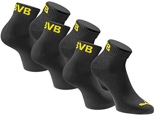 Puma Quartersocken BVB Borussia Dortmund 3 Paar Pack - black - Gr. 43-46 -