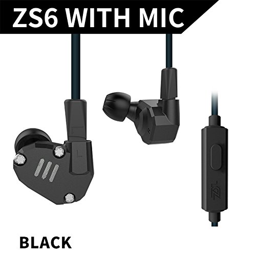 HiFi In Ear Earphone Triple Driver Balanced Armature Bass Noise Earphone (Black with MIC) (Triple-driver-ohrhörer)