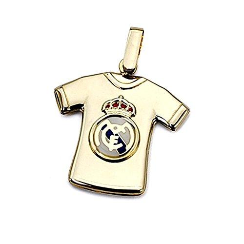 Colgante camiseta escudo Real Madrid oro de ley 18k segunda mano  Se entrega en toda España