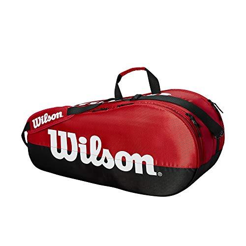 WILSON Tennistasche Team 2 Fächer, Team 2 Compartment, schwarz/red -