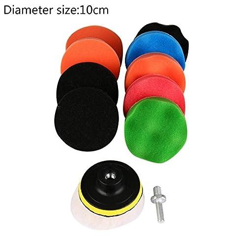 Car polishing sponge cleaning pads cloths wipes towel mop accessories tools kit window 11Pcs set 4 inch