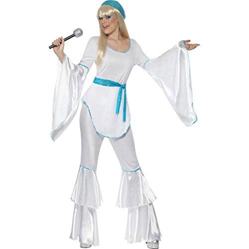 NET TOYS Abba Kostüm Damen 70er Jahre Outfit L 44/46 Tanzkostüm Abbakostüm Super Trooper ()