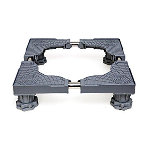 Verstellbar Mobile Base (Verstellbare Mobile Base Multifunktionale Bewegliche Basis Feuchtraumhalterung Verdickungsständer Versenkbares Stahlrohr Einstellbare Gerätesockel,Grey-B)