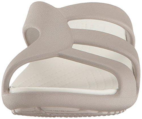 Crocs Snrhstrappywdg, Sandales Bout Ouvert Femme Gris (Platinum)