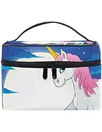 COOSUN Bolso rosado del unicornio cosmética lienzo Viaje Neceser Top Mango  de una sola capa de e18de3de4bde5