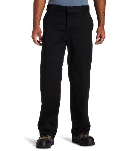 Dickies Herren Sporthose Streetwear Male Pants Double-Knee Work, Black, W38/L32 (Double Work Pant Herren Knee)