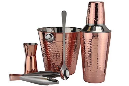 Apollo 5-Piece Stainless Steel and Copper Cocktail Set, Multi-Colour