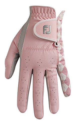 Footjoy FJ Attitudes–Golf-Handschuh für Linkshänder, Damen, Rosa/Perla, Izquierda - L (Leder Linkshänder Golf Handschuh)